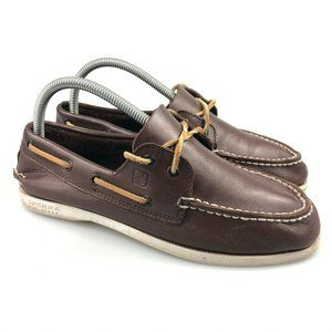 Sperry Boys Authentic Original 2-Eye Brown Shoes 6